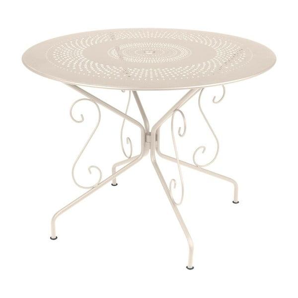Kremowy stół metalowy Fermob Montmartre, Ø 96 cm