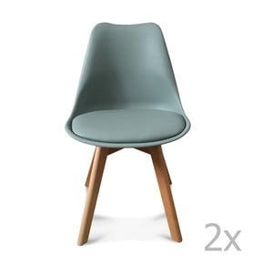 Zestaw 2 mentolowych krzeseł Opjet Scandinavie