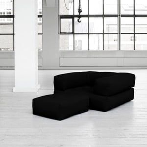 Fotel rozkładany Karup Cube Black