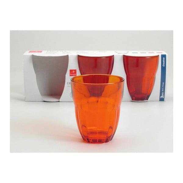 Zestaw szklanek Ercole Orange, 3 szt.
