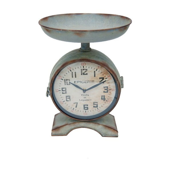 Metalowy zegar stołowy Antic Line On Legs