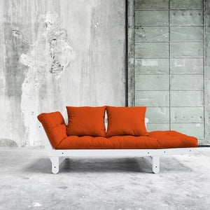 Sofa rozkładana Karup Beat White/Orange