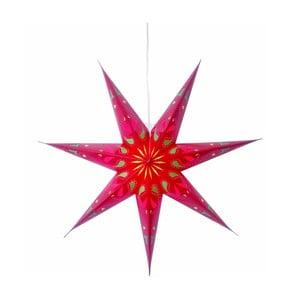 Świecąca gwiazda ze stojakiem Siri Red, 70 cm