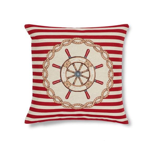 Poszewka na poduszkę Maritim Framed Red, 45x45 cm