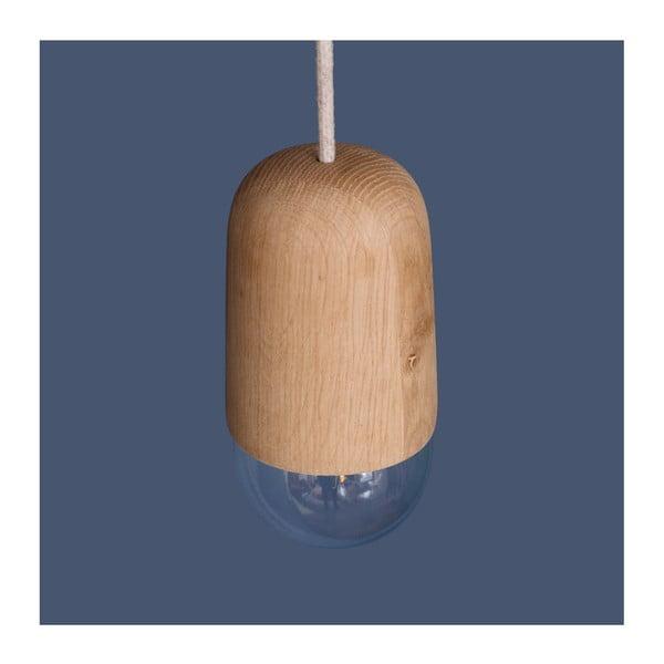 Lampa wisząca w naturalnym odcieniu drewna HARTÔ Luce