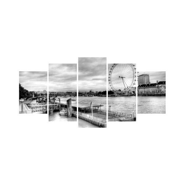 Wieloczęściowy obraz Black&White no. 89, 100x50 cm