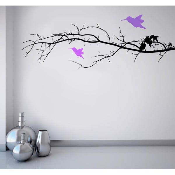 Naklejka na ścianę Ptaki na gałęzi, 90x120 cm