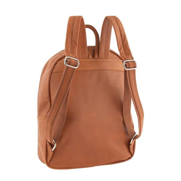 Miedziano-brązowy plecak skórzany Ore Diece Rovigo