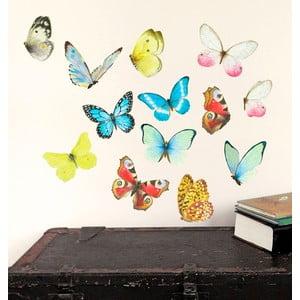 Naklejka wielokrotnego użytku Watercolor Butterflies, 40x30 cm