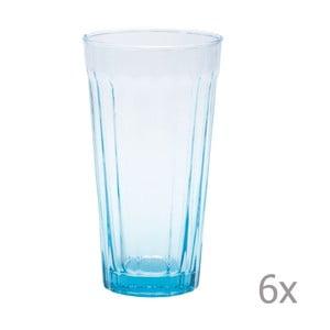 Zestaw 6 wysokich szklanek Lucca Sky, 500 ml