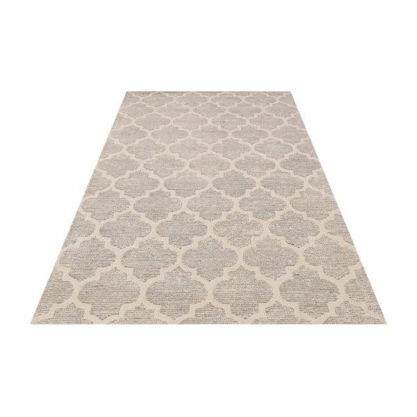Srebrny dywan tuftowany ręcznie Bakero Diamond, 183x122 cm