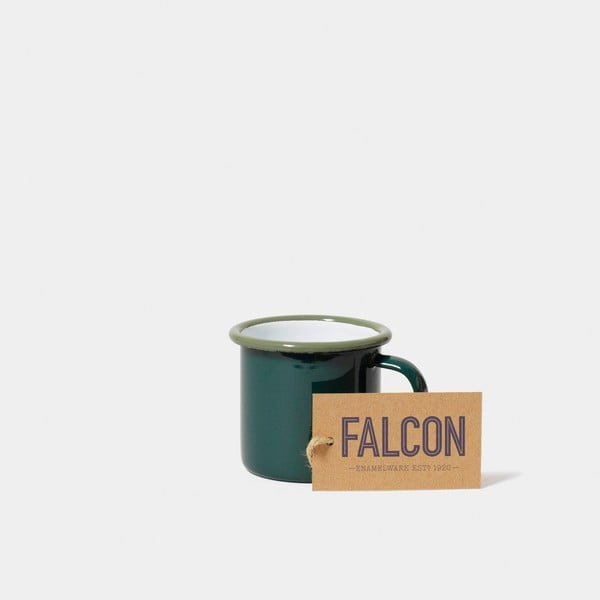 Ciemnozielony emaliowany kubeczek na espresso Falcon Enamelware, 160 ml