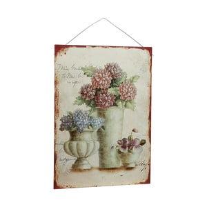 Metalowy obraz Antique Flores