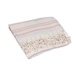 Pomarańczowy ręcznik hammam Artemis Orange, 90x190cm