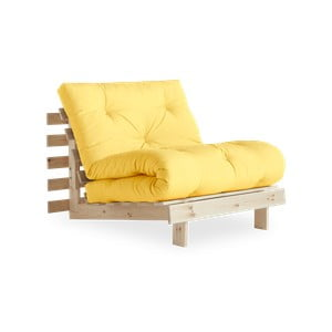 Fotel rozkładany Karup Design Roots Raw/Yellow