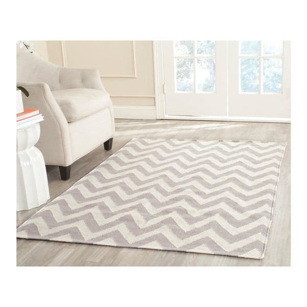 Beżowy dywan wełniany tkany ręcznie Safavieh Nelli, 152 x 243 cm