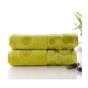 Zestaw 2 ręczników Tropical Green, 50x90 cm