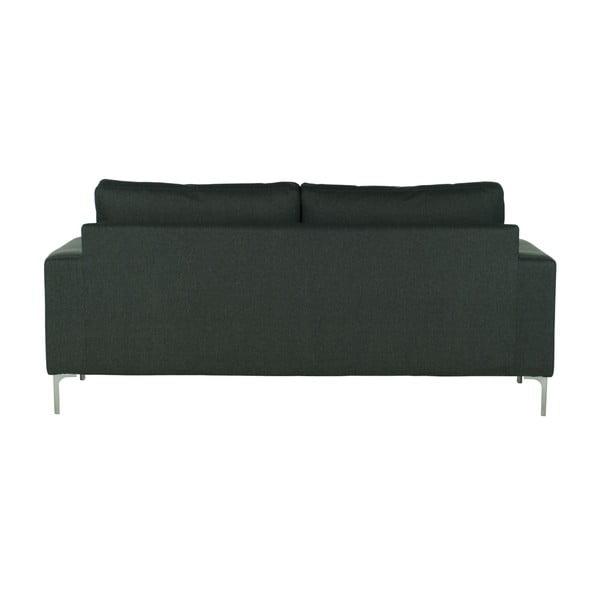Ciemnoszara   sofa trzyosobowa Wintech Eboney Inari