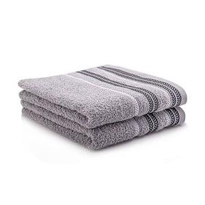 Komplet dwóch ręczników Hugo 50x90 cm, grey
