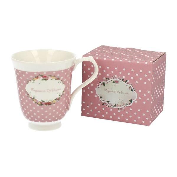 Kubek porcelanowy Retro Pink, 350 ml