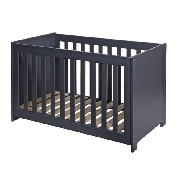 Łóżeczko dziecięce New Life, stalowo szare