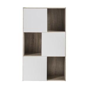 Biała biblioteczka z 3 szafkami Demenyere Polsi