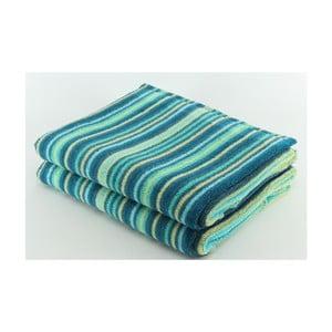 Komplet 2 ręczników Bold Blue, 70x140 cm