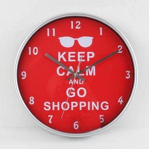 Zegar Keep Calm Red