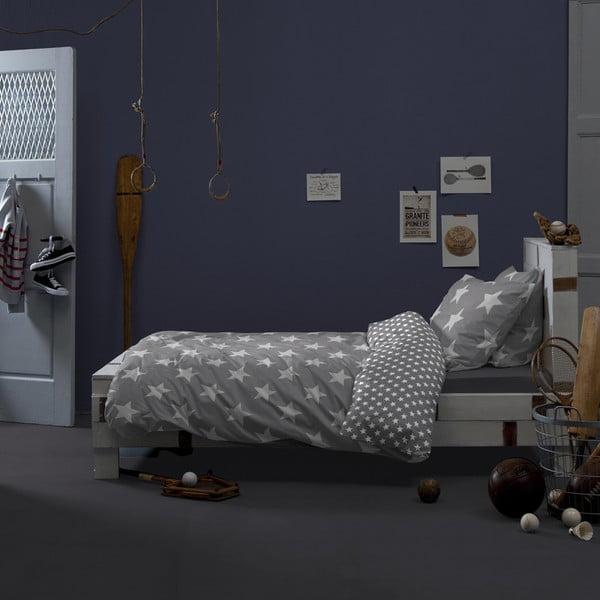 Szara bawełniana pościel jednoosobowa Damai Starville Grey, 200x140cm