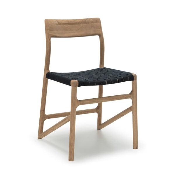Krzesło Fawn White Pigment Gazzda, czarne