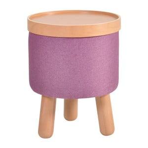 Fioletowy stołek ze zdejmowanym blatem Garageeight Molde, ⌀35cm