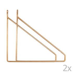 Zestaw 2 metalowych uchwytów w kolorze złota do półki House Doctor Apart