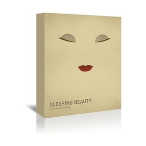 Obraz na płótnie Sleeping Beauty With Text