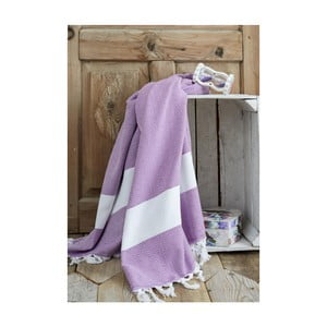 Fioletowy ręcznik Hammam Elmas, 100x180cm