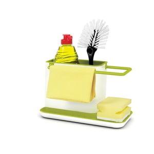 Biało-zielony stojak na środki czystości Joseph Joseph Caddy Sink Tidy