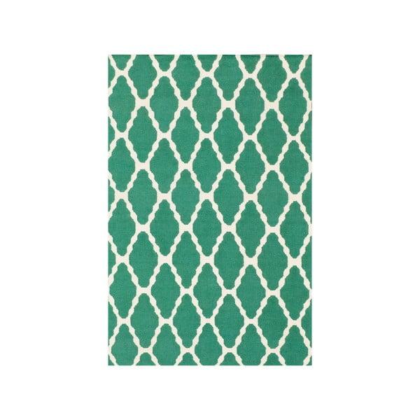Ręcznie tkany dywan Kilim Venus Green, 155x240 cm