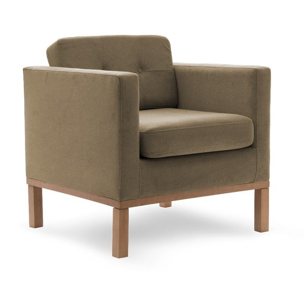 Fotel VIVONITA Jonan Light Brown, naturalne nogi