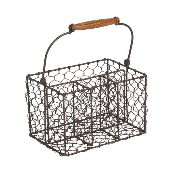 Koszyk metalowy na sztućce Antic Line Holdes