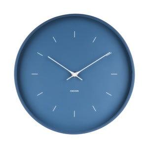 Niebieski zegar ścienny Karlsson Butterfly, Ø 27,5 cm