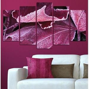 5-częściowy obraz Jesienny liść