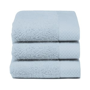 Komplet   3 ręczników Pure Blue, 30x50 cm