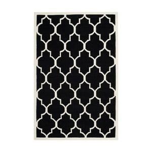 Czarny dywan wełniany Safavieh Alameda, 182x274cm