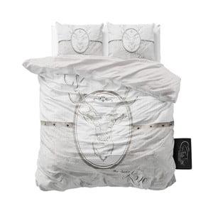 Pościel z mikroperkalu Sleeptime My Deer Love, 160x200cm