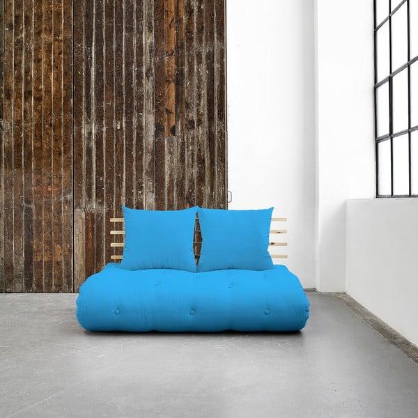 Sofa rozkładana Karup Shin Sano Natur/Horizon Blue
