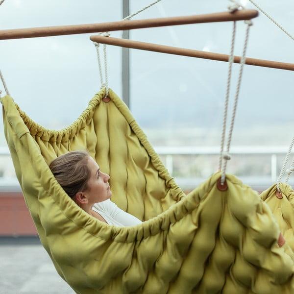 Turkusowy fotel wiszący do wnętrz Swingy In Mystic