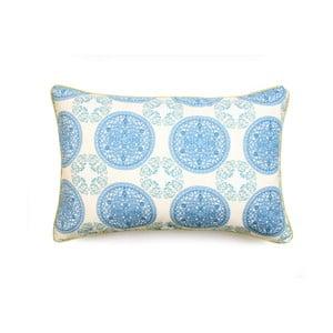 Niebieska poszewka na poduszkę WeLoveBeds Ornaments, 40x60 cm