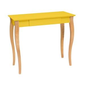 Żółte biurko Ragaba Lillo, dł. 85 cm