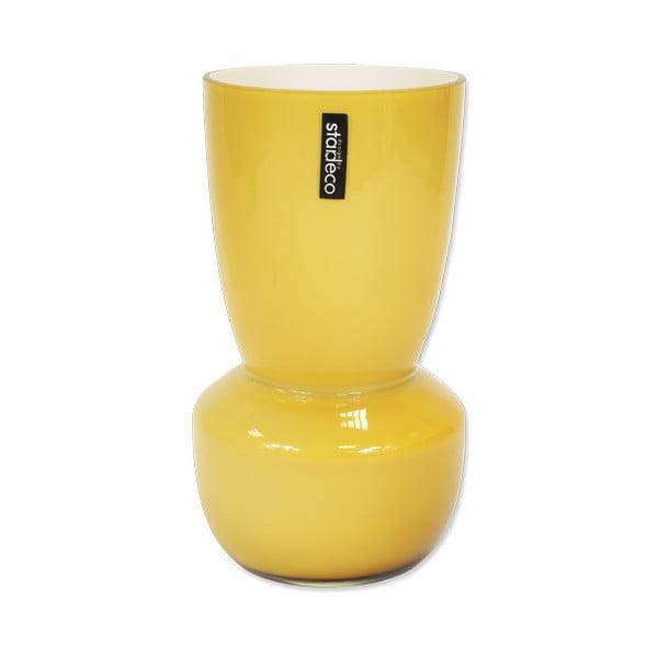 Szklany wazon Rolin, pomarańczowy