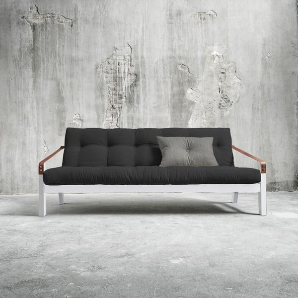 Sofa rozkładana Karup Poetry White/Dark Grey/Granite Grey