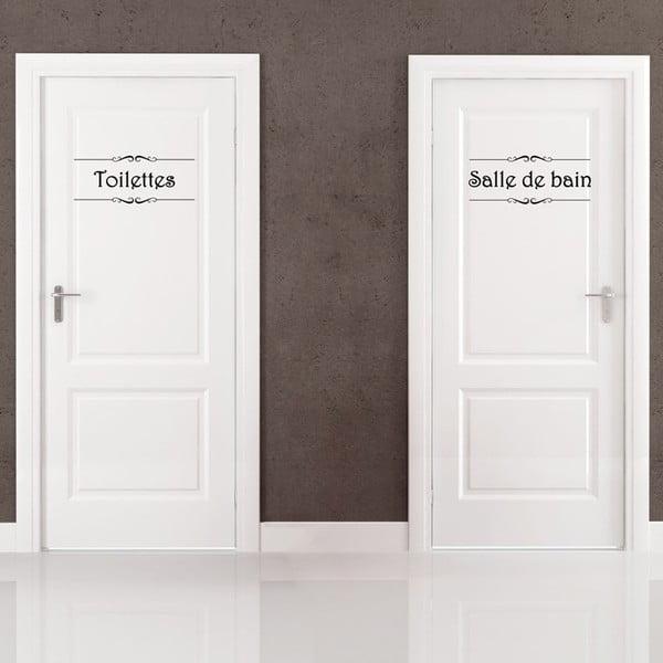 Naklejka Salle de bain + Toilettes